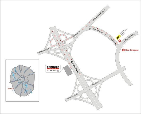 схема проезда МКАД 47 км