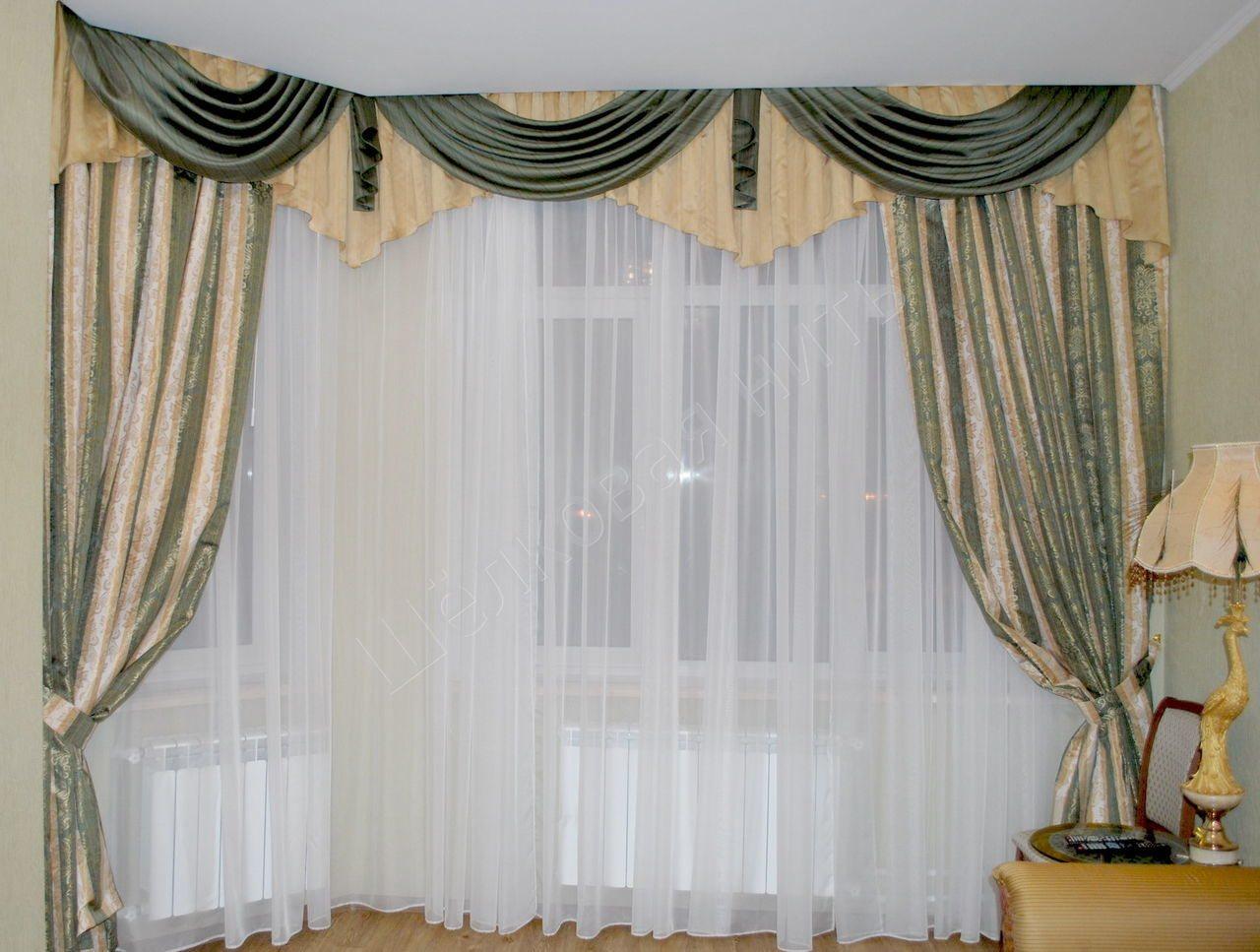 Ассиметричные шторы для гостиной фото